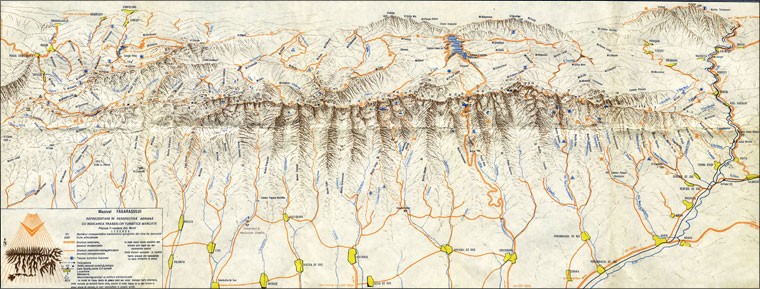Map North View from Fagaras Mountains