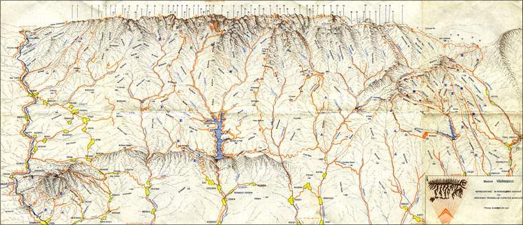 Map South View from Fagaras Mountains
