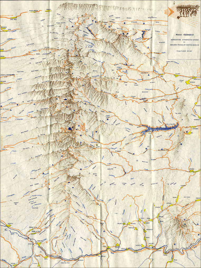 Map West View from Fagaras Mountains