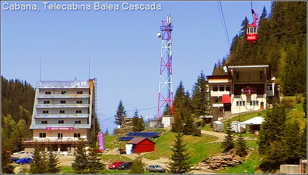 Chalet and Balea Waterfall cable car