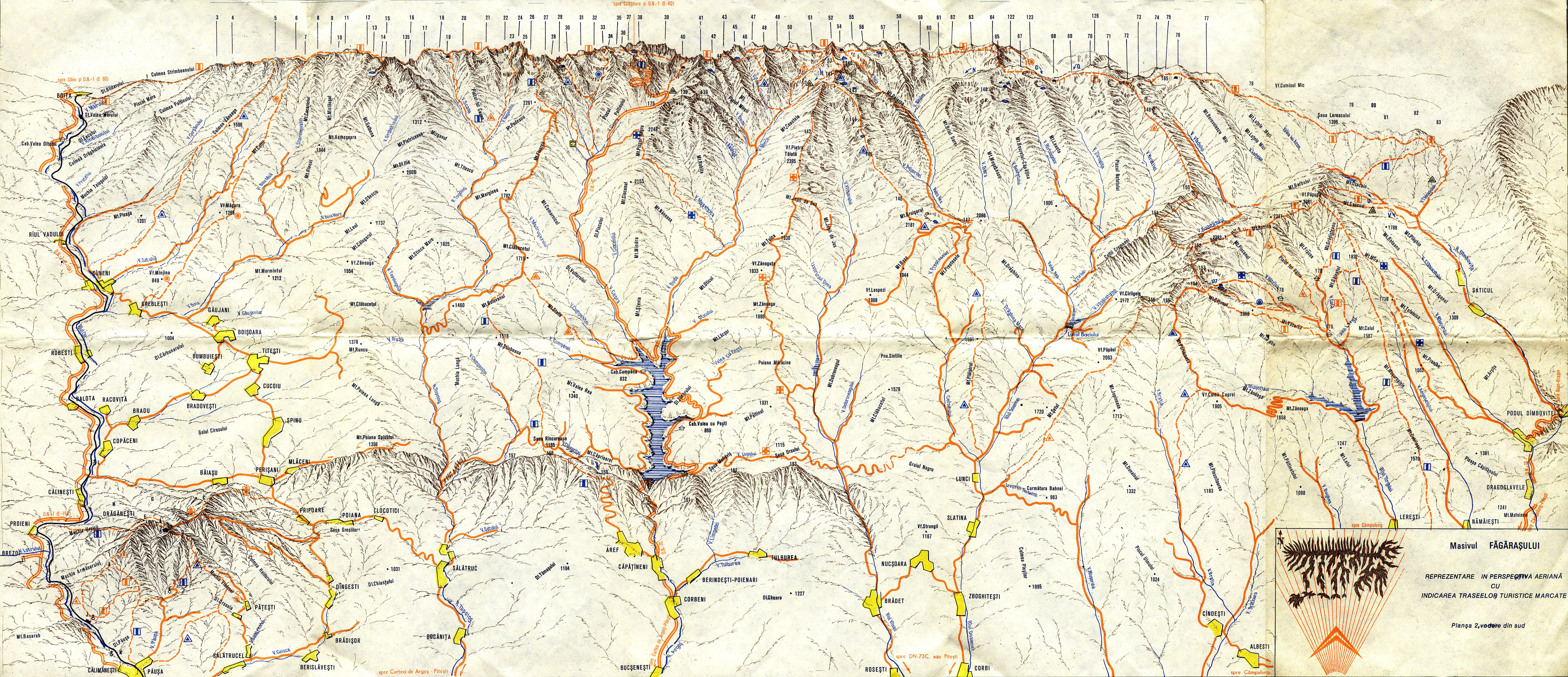Maps Fagaras Mountains
